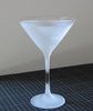 frosted martini glass